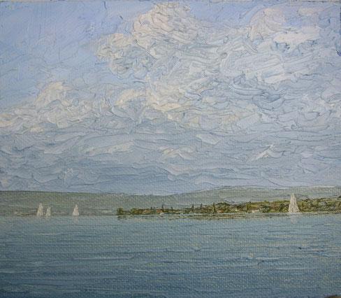 """""""Untersee"""", Öl auf Leinwand, 12 x 14 cm"""