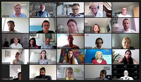 Screenshot  vom Meet up KUER.NRW mit einigen der Teilnehmer