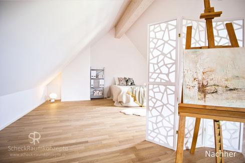 Galerieebene mit Gäste- und Hobbybereich