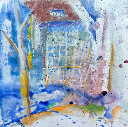 Haus im Garten II - 2014 (Mischtechnik)