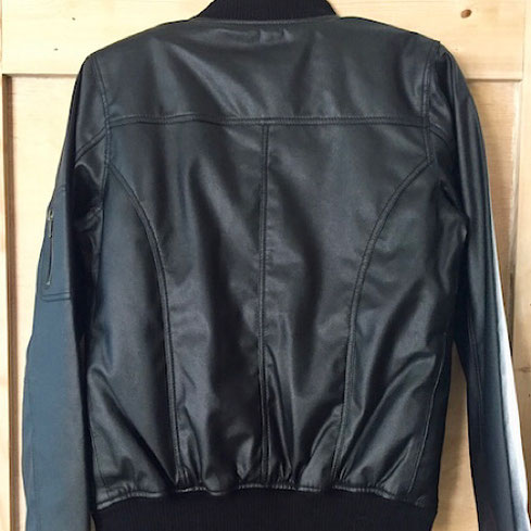 julietta vegan leather bomber jacket james & co boutique
