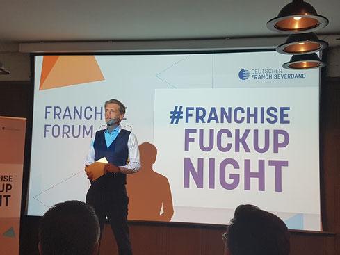 #FRANCHISE FUCKUP NIGHT in Berlin mit Hajo Schumacher als Moderator  © Greenfranchise Lab®