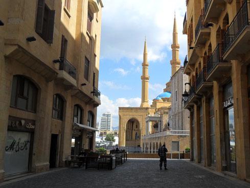 Schickes Einkaufsviertel in Beiruts Downtown