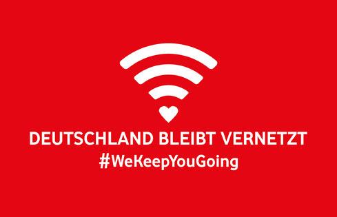Deutschland bleibt vernetzt | #WeKeepYouGoing