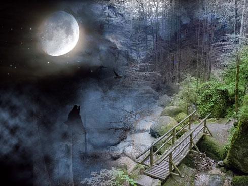 Mystische Sagen und Geschichten ranken sich um die Wolfsschlucht in Bad Kreuzen