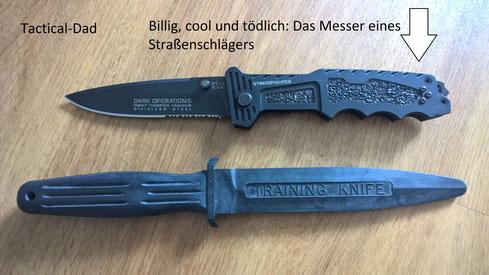 """Derartige ziemlich cool gestaltete Messer bekommt man in Tschechien auf den Asiaten Märkten für wenige Euro, zusammen mit allen möglichen """"verbotenen Gegenständen""""."""