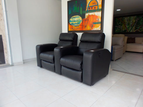 Sofá reclinable para sala de tv