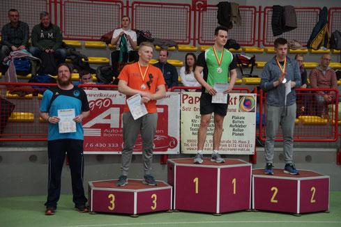 Ruben Loew (links) mit Rang 4.