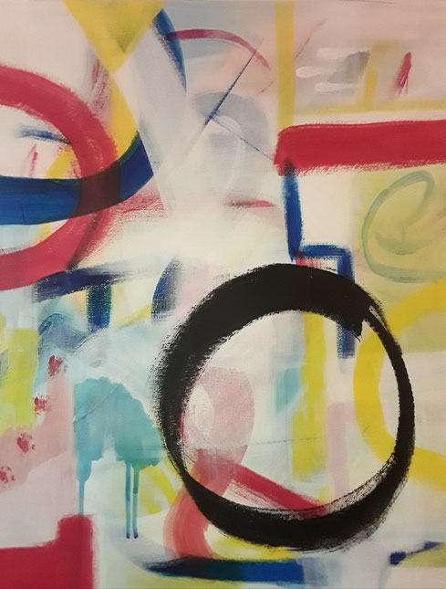 """2019 C203  Revelation     Acrylic on Canvas  May 2019  20.00"""" H x 16.00"""" W  SOLD"""