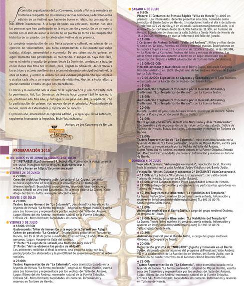 Programa de Los Conversos 2015 en Hervás