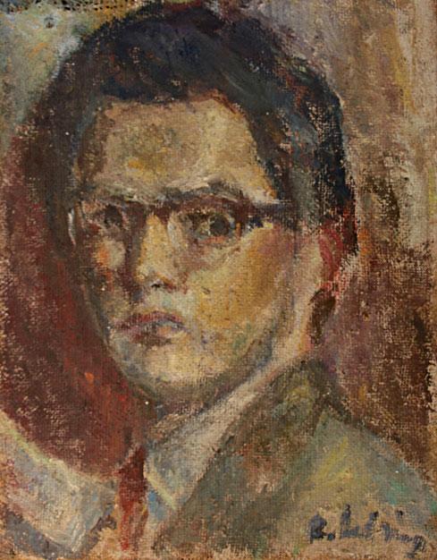 Selbstportrait   1959, Öl auf LW, 35,5 cm x 45,5 cm