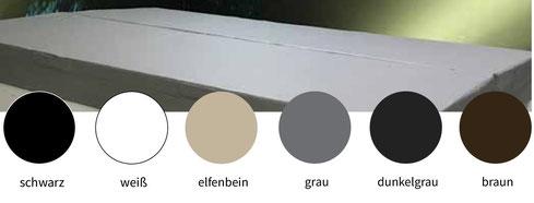 Farbauswahl für die Whirlpool-Abdeckung