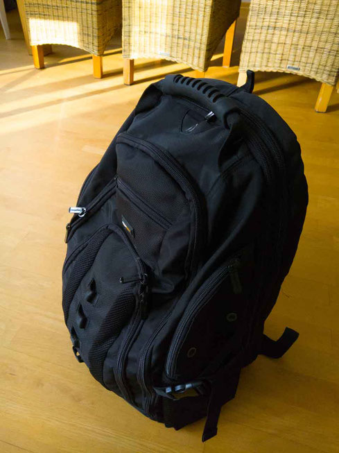 Rucksack Amazon schwarz Notebook