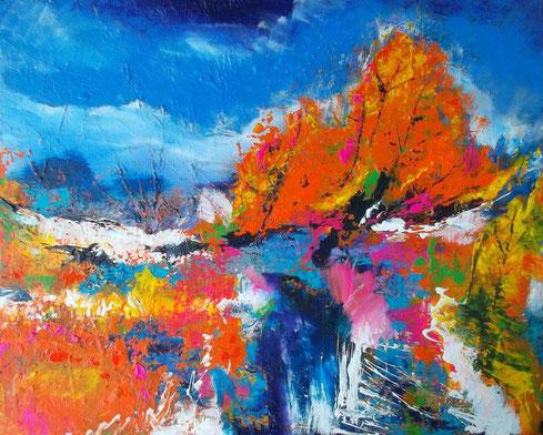 Sommer 15 - Öl / Acryl auf Leinwand - 60 x 80