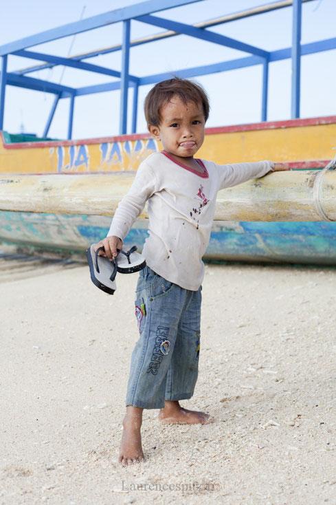 Portrait d'un enfant Balinais, de Gili Méno