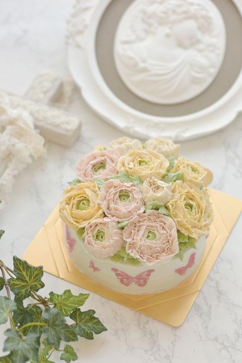 フラワーケーキ 大阪 習い事 ケーキ デコレーションケーキ 誕生日ケーキ お菓子教室 スクール