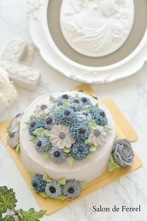 フラワーケーキ 教室 ケーキ教室 習い事 大阪市 ケーキ お菓子教室 料理教室