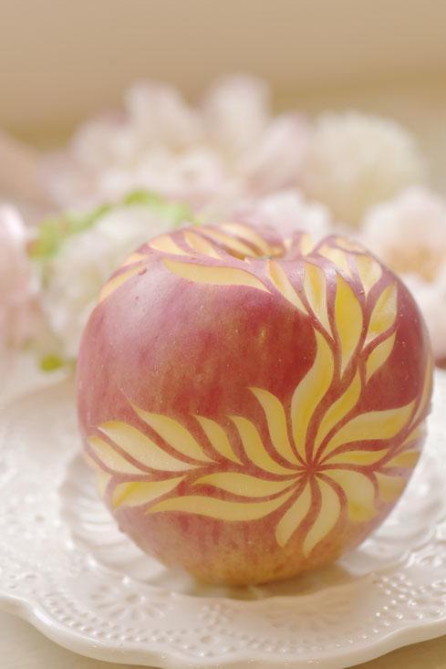 リンゴ 大阪 カービング 教室 習い事 フルーツ