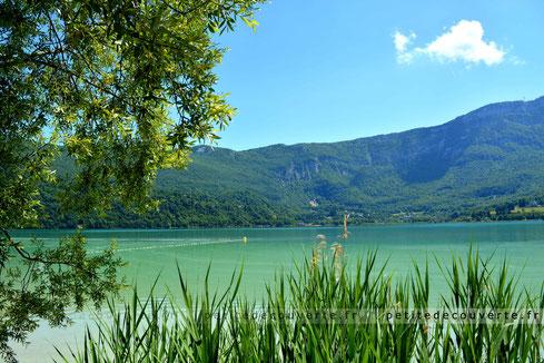 lac d'aiguebelette savoie lac eau turquoise farnce rhonealpes