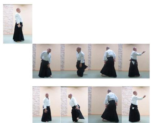 単独基本動作 後方回転/前方回転 前方の3コマ目は後方のものを合成挿入。