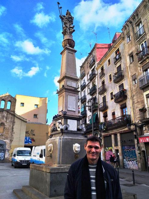 Фонтан Святой Евлалии в Барселоне. Фонтаны Барселоны