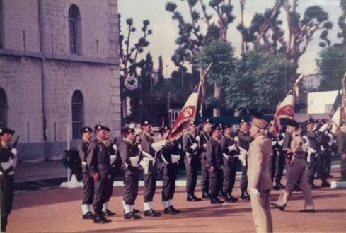 Cérémonie militaire à la Vitriolerie (Quartier Général Frère à Lyon) en présence de toutes les unités constituant les 14e et 114e D.I.