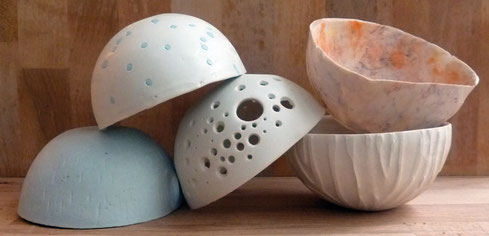 Bols porcelaine. Brigitte Morel