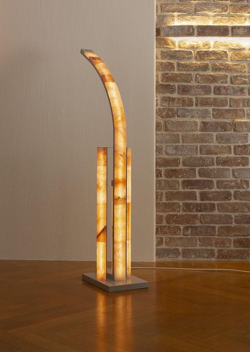 3-fach LED Leuchte mit Salzsteinen und Touch-Dimmer