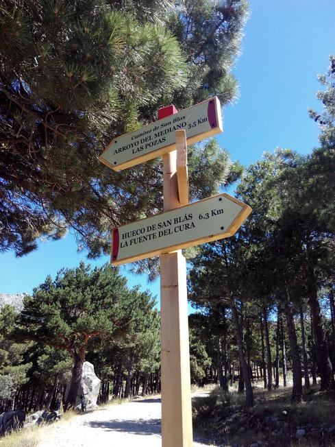 Nueva señalización del Parque Nacional en el Hueco de San Blas