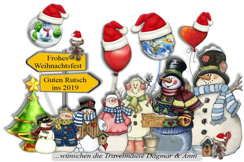 Frohe Festtage wünschen die Travelmäuse allen Besuchern!
