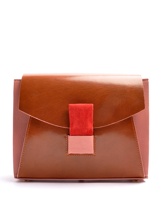 OSTWALD Bags . Finest Couture . Handcrafted Leatherbag Shoulderbag brown rose . Slowfashion