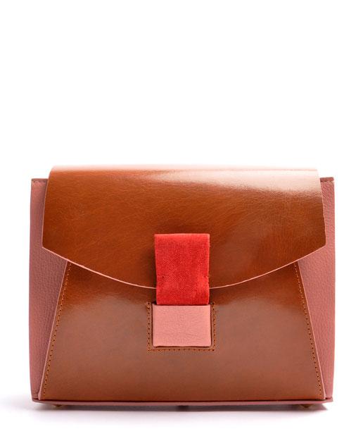OSTWALD Bags . Finest Couture . Handcrafted Leatherbag Shoulderbag brown rose . Slowfashion