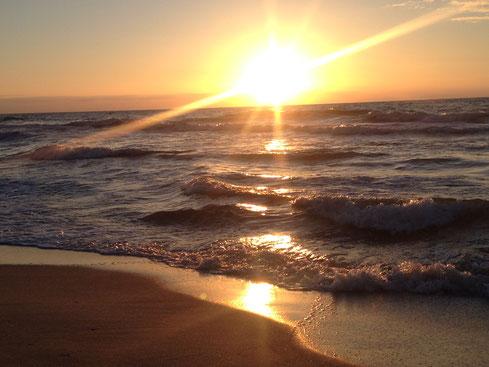 Sunset Stimmung Infrarotstrahlen