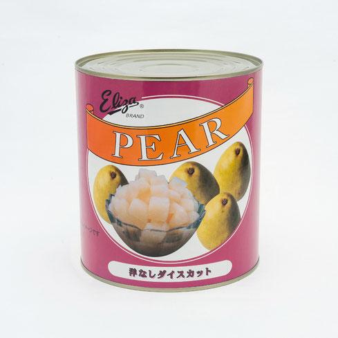 フルーツ缶詰,洋梨,エリザ洋なしダイスカットライトシラップ,ストー缶詰株式会社