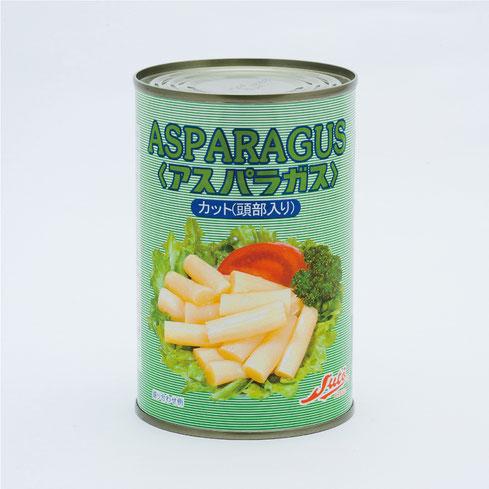 ホワイトアスパラガス,ストー中国産アスパラガストップ入りカット,ストー缶詰株式会社