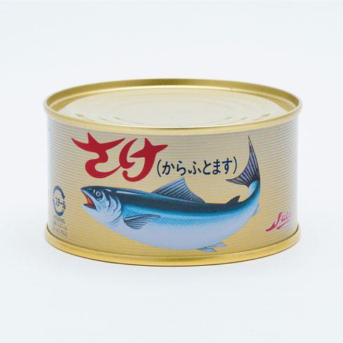 業務用水産缶詰,ストーさけ水煮(からふとます),ストー缶詰株式会社