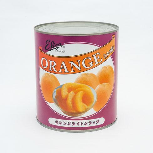 フルーツ缶詰,オレンジ,エリザトルコ産オレンジライトシラップ3kg,ストー缶詰株式会社