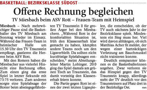 Artikel im Miesbacher Merkur am 14.4.2018 - Zum Vergrößern klicken