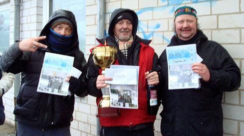 Sieger unter sich: Poschi, Hajo, Stephan (v. l.) (Quelle: TuS Lübeck)