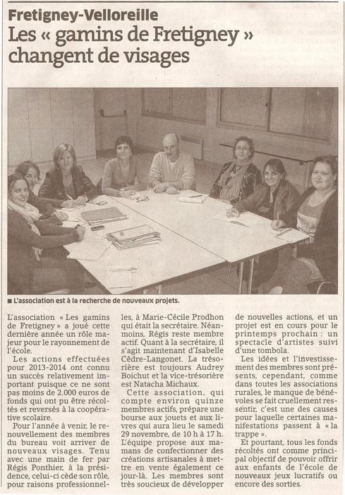 Est Républicain 25/10/2014