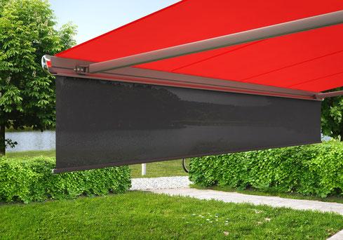 markilux Schattenplus - zusätzlicher Blend- und Sichtschutz für Ihre Markise