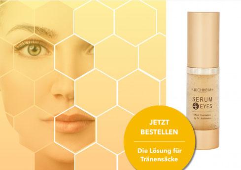 Sie sind Tränensäcke oder geschwollene Augenringe leid? Wir haben die Lösung gegen dicke Augen.Testen Sie jetzt das Augenserum von Dr. Juchheim Cosmetic und staunen Sie über die Wirkung. Unsere Kosmetikprodukte haben 100% natürliche Inhaltsstoffe .