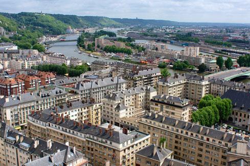 Vue depuis la Cathédrale de Rouen au Printemps (source: Frédéric BISSON)
