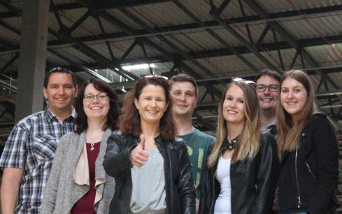 Das Team der IBS Planungen GmbH zu Besuch auf der Baustelle