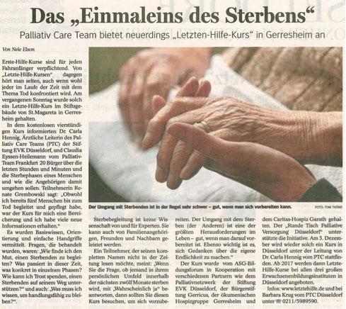 Neue Rhein Zeitung, 8. September 2016