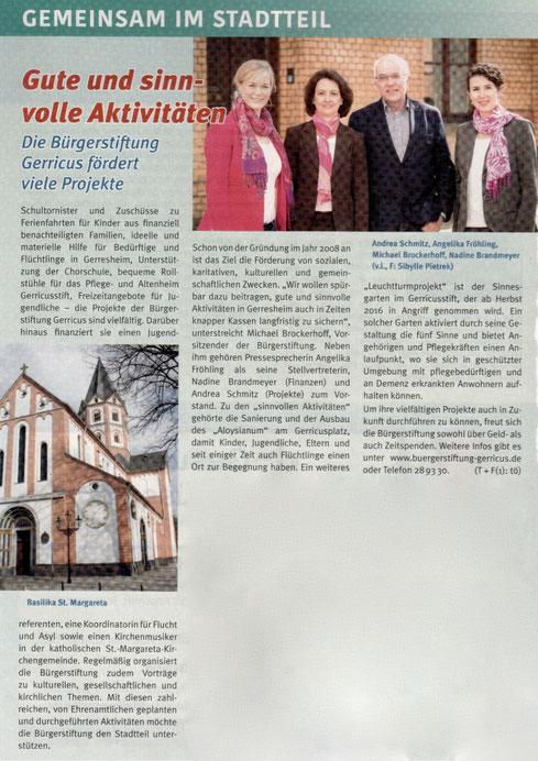Gerresheimer Gazette, März 2016