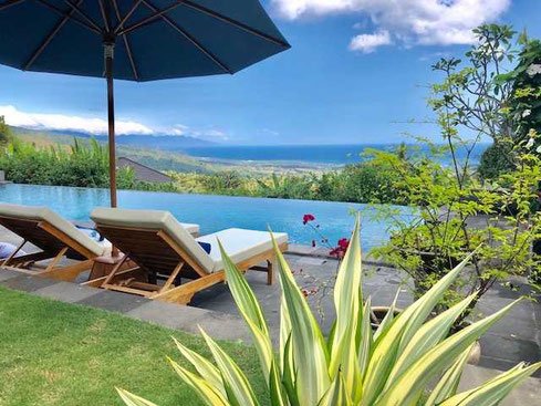 North Bali mountain villa for sale by owner including a yoga pavilion.