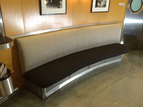 Reupholstered Bench in Nanotex Fabric