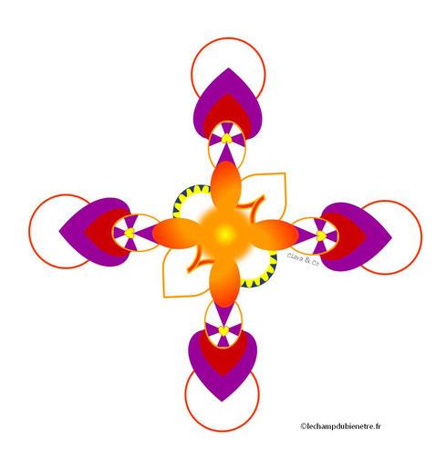 Dessin énergétique sacré, l'unité à l'état pur - karine Vincent