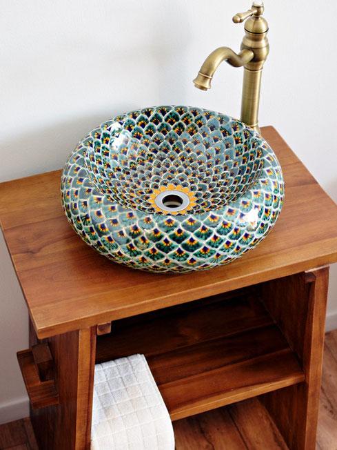 Mexambiente Aufsatzwaschbecken PAVO